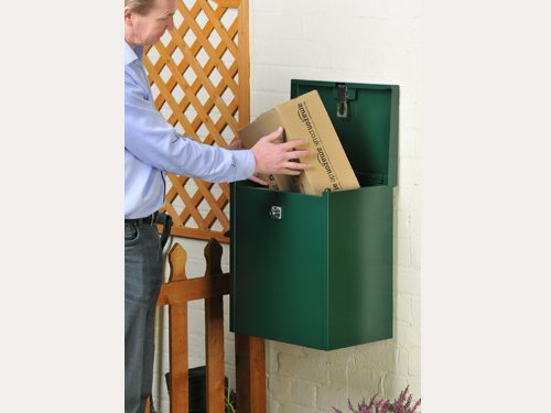 Parcel Delivery Box - Mini (Dark Brown) for secure parcel delivery to your home