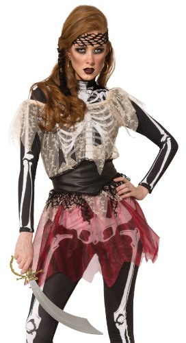 Rubies Sexy Zombie Skeleton Pirate Halloween Costume
