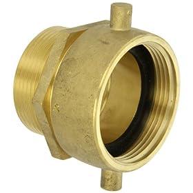 Moon 363-2522561 Brass Fire Hose Adapter, Pin Lug Swivel, 2-1/2