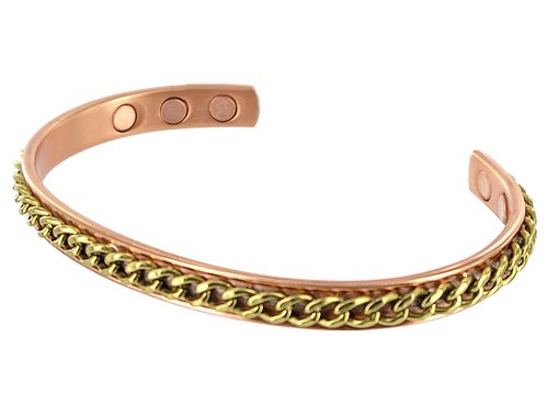 8 MM Wide Magnetic Copper Golf Arthritis Cuff Bracelet