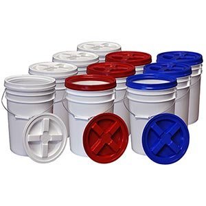 6-gallon Pail with Gama Air-tight Lids - 10-pack