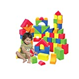 Foam Building Blocks, Building Toy for Girls and Boys, Ideal Blocks/Construction Toys for Toddlers, High Quality 104 Pieces Different Shapes and Sizes, Waterproof, Bright Colors, 100% Safe, Non-Toxic.