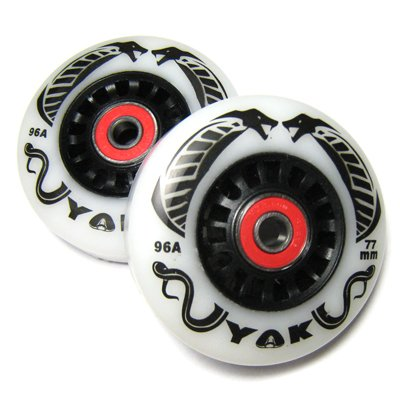 ブレイブボード リップスティック ウィール classic、AIR、G、BRIGHT対応 サイズ77mm 硬さ96a ベアリング付きタイヤ by YAK COBRA