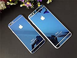Bloomy Premium Blue Tempered Glass Screen guard for Iphone 6/6s (Front and back)