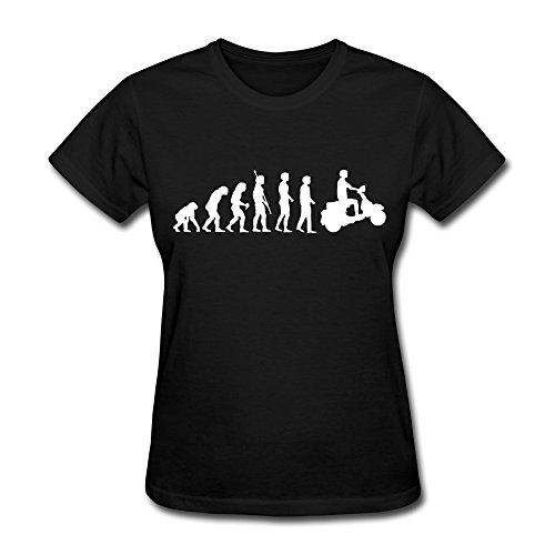 Zhitian Women'S Biker Scooter Evolution T-Shirt - Xl Black