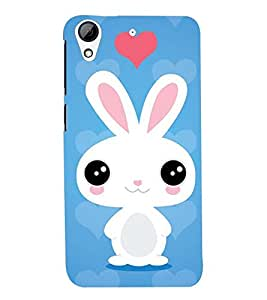 PRINTSWAG HEART WITH RABBIT Designer Back Cover Case for HTC DESIRE 626