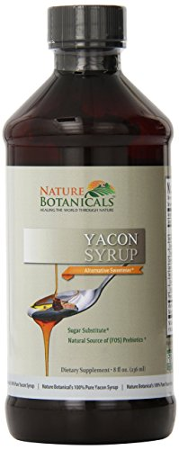 Nature Botanical Farms 100% Pure Yacon Syrup, All Natural Sugar Substitute, Metabolism Booster, 8 oz