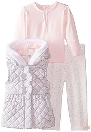 Amazon Little Me Baby Girls 3 Piece Vest Set Clothing