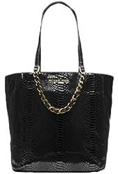 Michael Kors Harper Black Leather Large North South Tote/Handbag