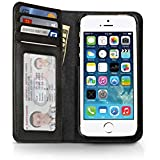 Twelve South BookBook for iPhone 5/5s, classic black   Vintage leather iPhone book case and wallet