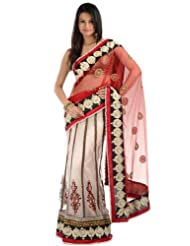 Chhabra555 Red Net One Minute Saree - B00J4RPM94