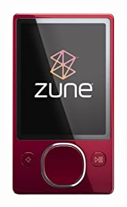 Zune 120 GB Video MP3 Player (Red)