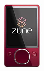Zune 120 GB Video MP3 Player (Red) (Discontinued by Manufacturer)
