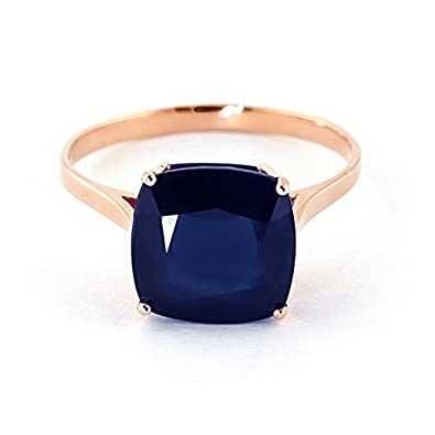 QP Jewellers Natural Sapphire Ring in 9ct Rose Gold, 4.83ct Cushion Cut - 4326R