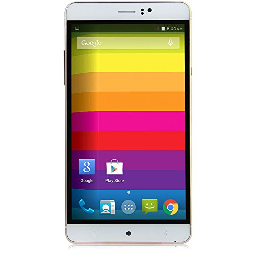 Padgene Handy 3G Smartphone Ohne Vertrag (6 Zoll (15,2cm) mit Android 4.4, Vierkernprozessor Dual SIM, IPS Touchscreen, Bluetooth) Mobiltelefon mit Doppel Kameras (Gold)