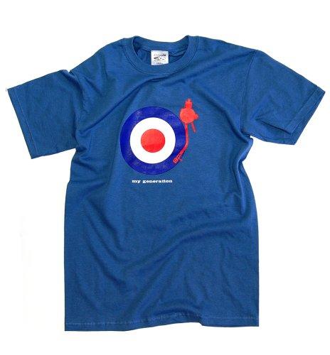 DMC Technics My Generation Mens T-Shirt Denim Blue D007S Small