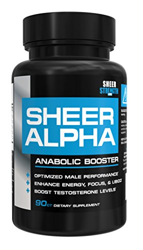 Sheer-ALPHA-Testosterone-Booster-for-Men-800mg-Horny-Goat-Weed-and-More-For-Boosting-Muscle-Growth-Stamina-Libido-and-Endurance-90-Capsules-30-Day-Supply