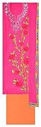 Sree Hamsa Women's Georgette Unstitched Dress Material (Pink)