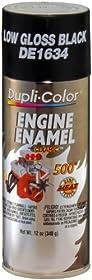 Dupli-Color DE1634 Ceramic GM/Chrysler Low Gloss Black Engine Paint - 12 oz.