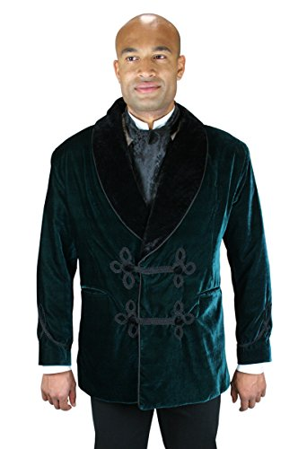 Historical-Emporium-Mens-Vintage-Velvet-Smoking-Jacket