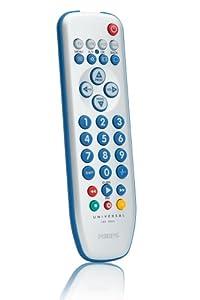 Philips SRP3004/10 Télécommande universelle 4 en 1 TV / VCR / DVD / SAT 10 m Blanc