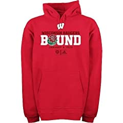 adidas Wisconsin Badgers ESPN Rose Bowl Bound Fleece Hoodie Sweatshirt Medium ad by adidas