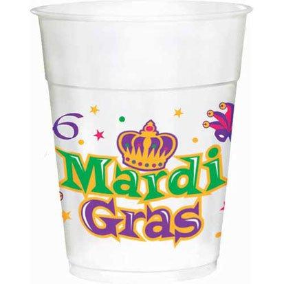 Mardi Gras Plastic 14oz Cups 25ct