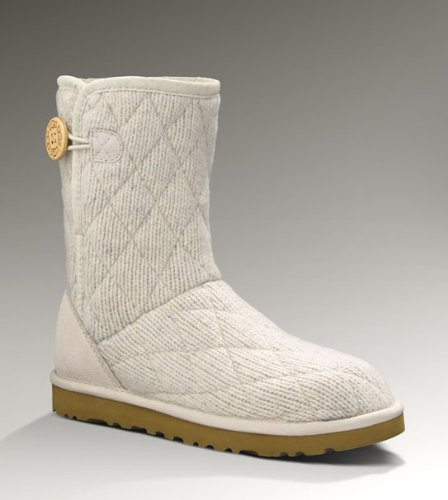 UGG Women's Mountain Quilted Short Boots - Stucco 10