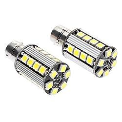 See MK- BAU15S 5W 6000-6500K 380-420LM 26x5050SMD LED White Light Reversing Lamp (DC 12-16V, 1-Pair) Details