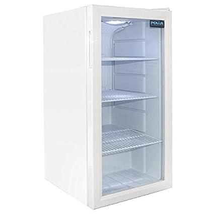 Frigo à bar / Arrière-bar réfrigéré vertical Polar Blanc. 1 porte