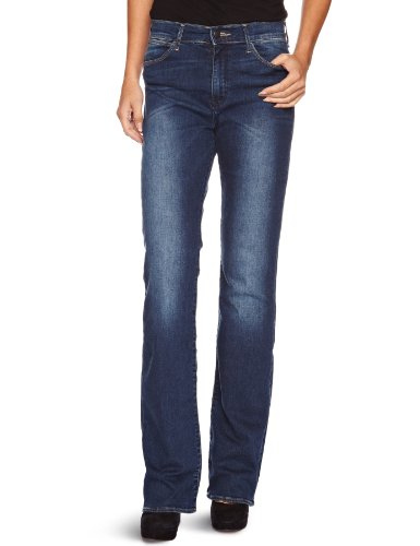 Wrangler - Jeans boot cut, donna, Blu (Blau (scuffed indigo 34D)), 40 IT (26W/32L)