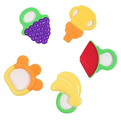 ilovebaby Baby Teething Relief Toy Pack- Silicone Baby Toys FDA Approved BPA Free- 100% Safe for Babies, Painless Teeth Colorful and Fun Design Pack of 5pcs by ilovebaby that we recomend individually.