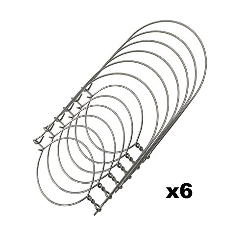 Stainless Steel Wire Handles (Handle-Ease) for Mason, Ball, Canning Jars (6 Pack, Regular Mouth)