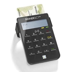 Reiner SCT cyberJack RFID standard - Der Standardleser für sicheres Onlinebanking und den neuen Personalausweis (nPA), schwarz