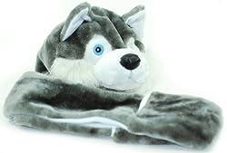 Jiglz Brand Children's animal Hats with attached Scarf and Handwarmer Mitten.