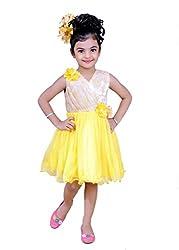 Kokoberry Girls' Frock (RDB755602_Yellow_6-12 Months)