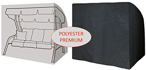 Housse Pour Balancelle De Jardin 3 Places Premium Polyester Noir