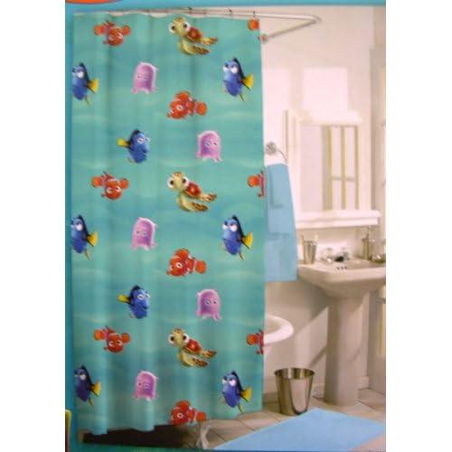 Amazon Com Disney Finding Nemo Shower Curtain W 12