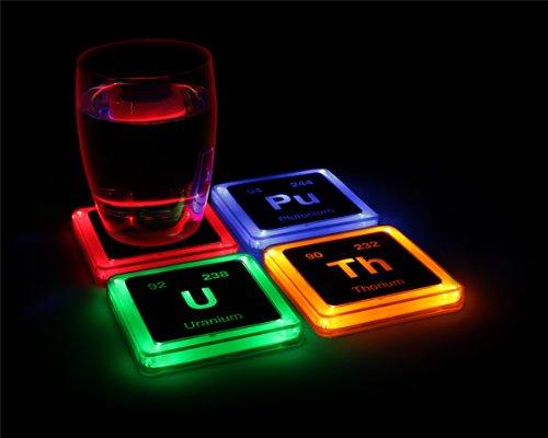 Thinkgeek Radioactive Elements Glowing Coaster Set