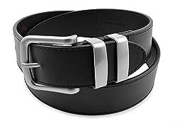 Moda Di Raza-Men's 'Sharp' Leather Belt - Black/L