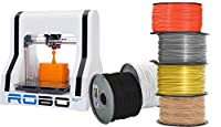 ROBO 3D A1-0006-000 3D Printer with 6 Spools of Filament (Pack of 7) by ROBO 3D