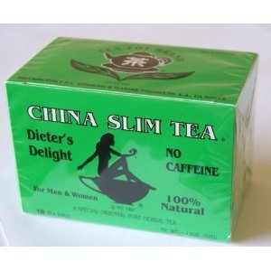 China Slim Tea Dieter'S Delight No Caffeine 16 Tea Bags Net Wt 32G