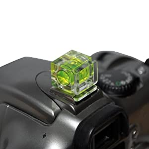 Kaavie Dual Hot Shoe One Bubble Spirit Level for Nikon Canon digital SLR
