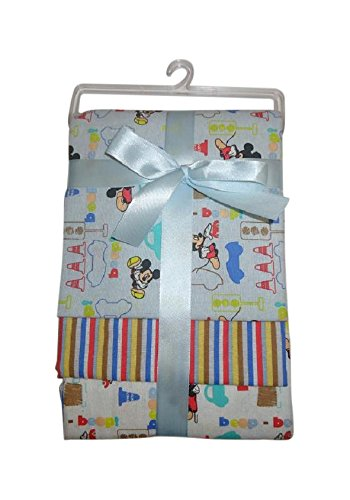 Disney Mickey Mouse 3 Piece Receiving Blankets - 1