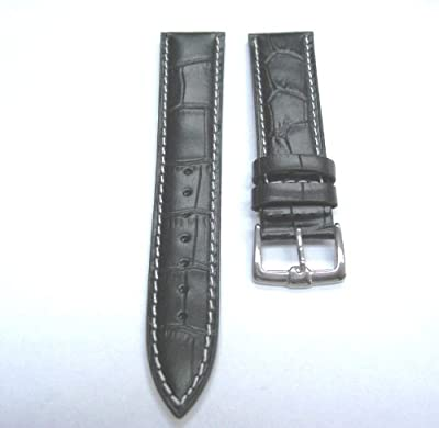 24mm Italy Leather Watch Strap Band for Tag Heuer Ws Black