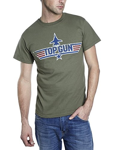 TOP GUN T-Shirt. Size Small, Medium and XL. Tom Cruise, Maverick, Fancy Dress. 100% Cotton (Small)
