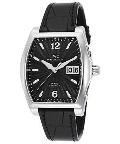 iwc-iw452312-mens-da-vinci-auto-black-genuine-leather-and-dial-ss-watch