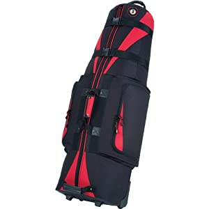 Golf Travel Bags Caravan 3.0 Wheeled Travel Covers Black/Red