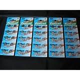 Eunicell Lot de 50 piles boutons alcalines AG10/SR1130/SR54/SR1131/389/390 1,5V