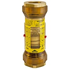 Hedland EZ-View Flowmeter With Sensor, Polyphenylsulfone, For Use With Water, NPT Female